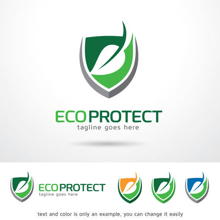 protect: Eco Protect  Template Design Vector Illustration