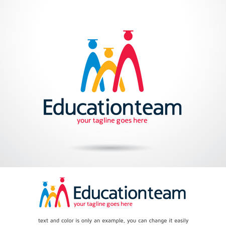 brand activity: Education Team   Template Design Vector Illustration