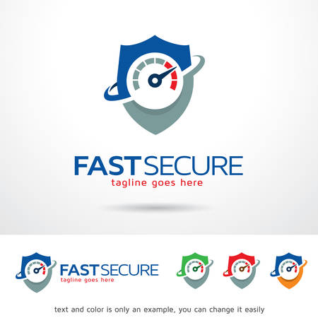 secure: Fast Secure  Template Design Vector