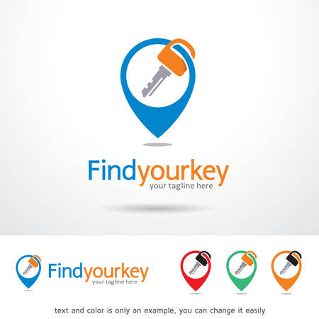 locator: Find Your Key Locator   Template Design Vector