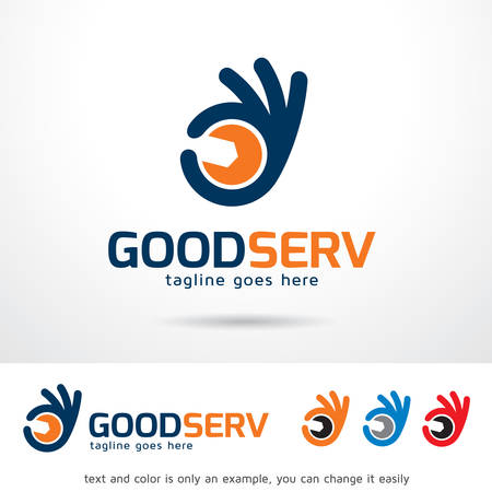 good service: Good Service  Template Design Vector
