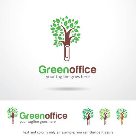 Green Office Template Design Vector Vector Illustration