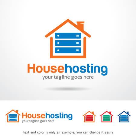 Casa Hosting Vector Template Design