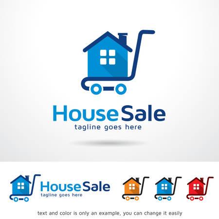 House Sale Template Design Vector Иллюстрация