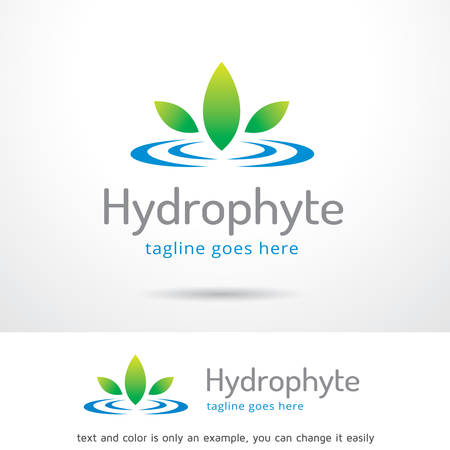 Hydrophyte Template Design Vector Illustration