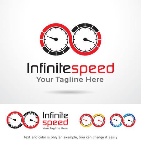 infinite: Infinite Speed Template Design Vector Illustration