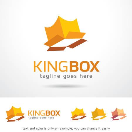 royal person: King Box Template Design Vector