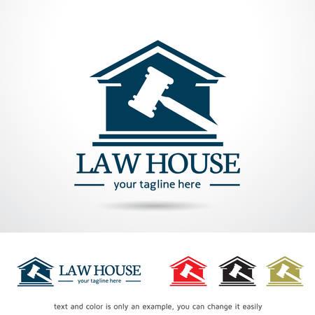 Law House Template Design Vector Stock Illustratie