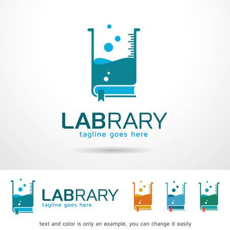 Lab Library Template Design Vector Иллюстрация