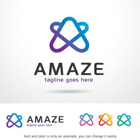 Amaze Letter A Template Design Vector