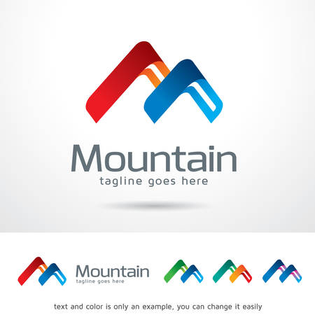 brand activity: Mountain Letter M Template Design Vector Illustration