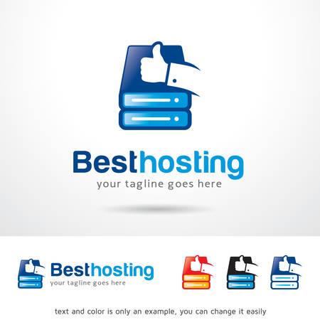 Best Hosting Template Design Vector