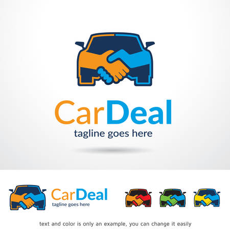 Car Deal Logo Template Design Vector Иллюстрация