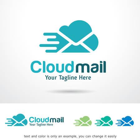 Cloud Mail Logo Template Design Vector