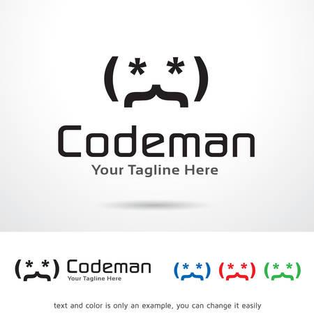 Codeman Logo Template Design Vector