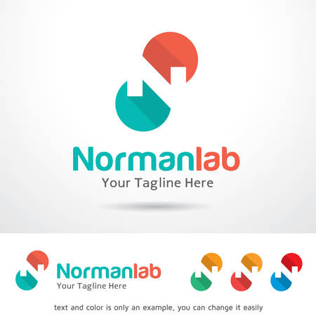 Norman Lab Letter N Logo Template Design Vector Ilustrace
