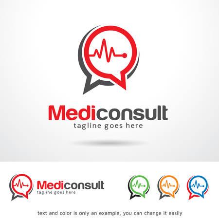 Medic Consult Template Design Vector