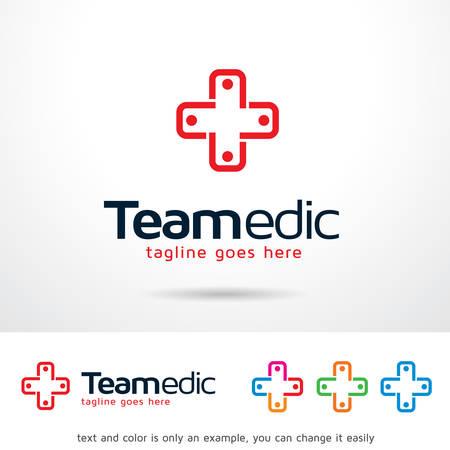 Team Medic Template Design Vector Illusztráció