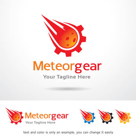 meteor: Meteor Gear Template Design Vector Illustration