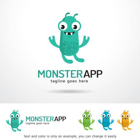 Monster App  Template Design Vector