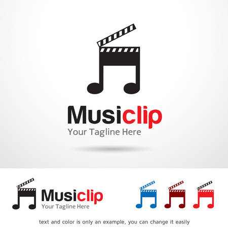 Music Clip    Template Design Vector