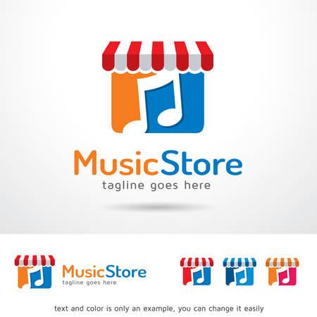 brand activity: Music Store  Template Design Vector Illustration