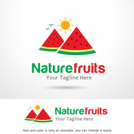 Nature Fruit  Template Design Vector Illustration
