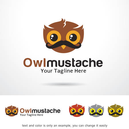 web development: Owl Mustache  Template Design Vector