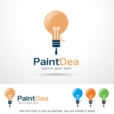 web development: Paint Idea   Template Design Vector