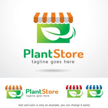 Plant Store   Template Design Vector