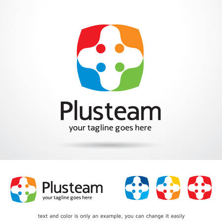 web development: Plus Team  Template Design Vector Illustration