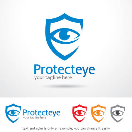 protect: Protect Eye Template Design Vector Illustration