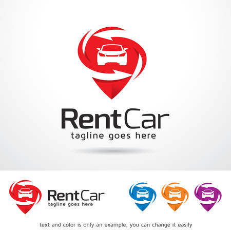 Rental Car Template Design Vector Çizim