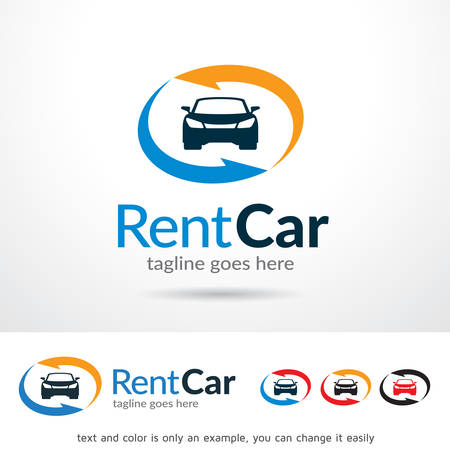 Rent Car Template Design Vector