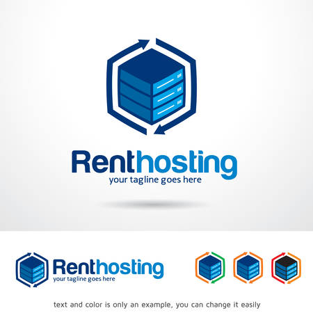 rent: Rent Hosting Template Design Vector