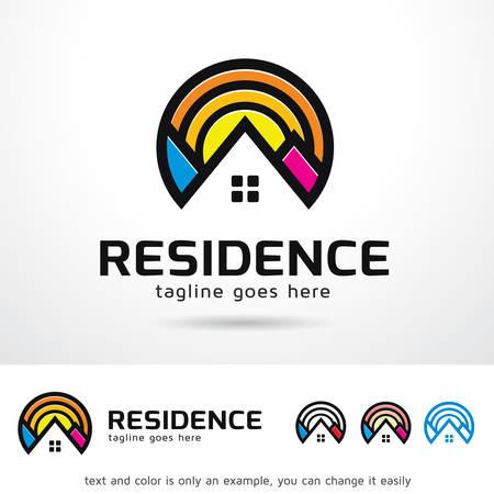 residence: Residence Template Design Vector Illustration