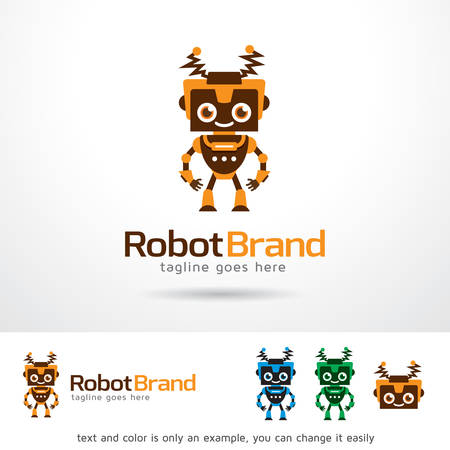 Robot Brand Template Design Vector