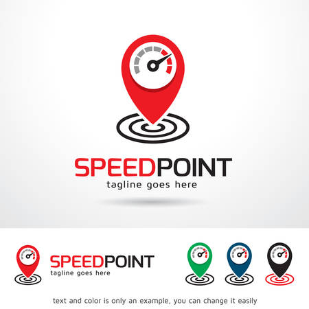 brand activity: Speed Point Logo Template Design Vector Illustration