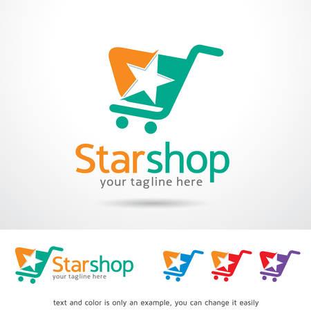 Star Shop Logo Template Design Vector