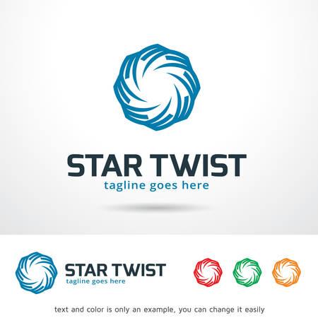 brand activity: Star Twist Logo Template Design Vector