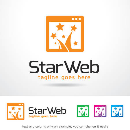 brand activity: Star Website Logo Template Design Vector