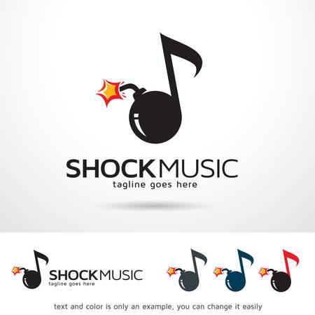 music logo: Shock Music Logo Template Design Vector