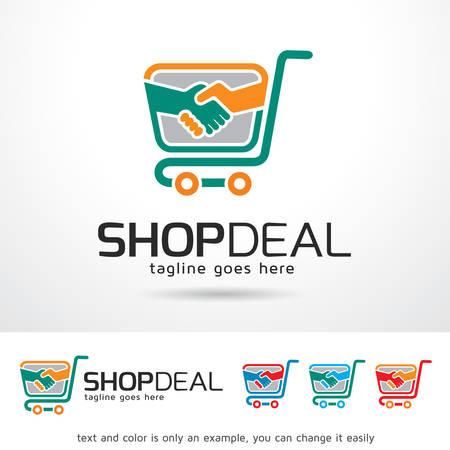 Shop Deal Logo Template Design Vector Иллюстрация