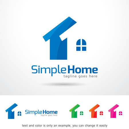 simple logo: Simple Home Logo Template Design Vector Illustration