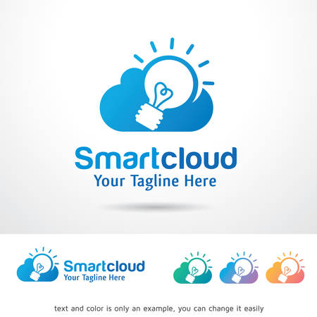 Smart Cloud Logo Template Design Vector Çizim