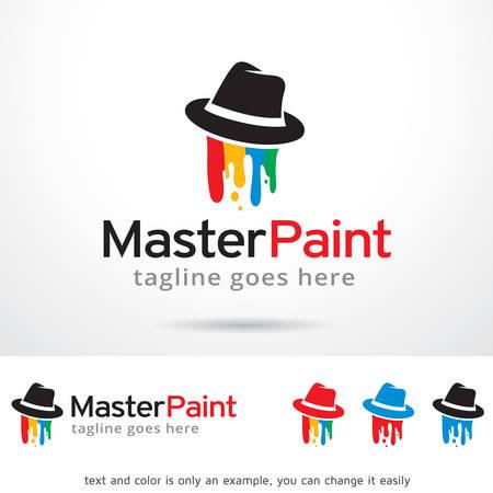 master: Master Paint Template Design Illustration