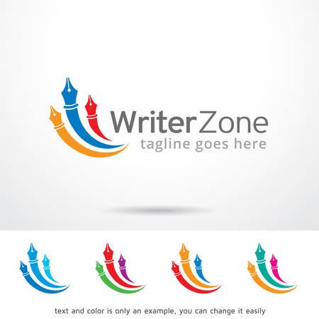 Writer Zone Template Design Vectores