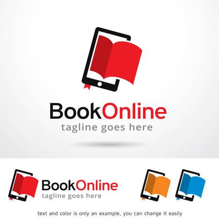 Book Online Template Design Иллюстрация