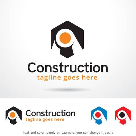 Construction Center Template Design Illusztráció