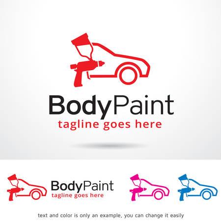 車ボディ ペイントのロゴ テンプレート デザインのベクトル